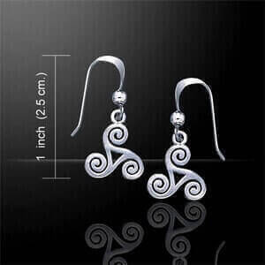 Celtic Spiral Ladies Earrings