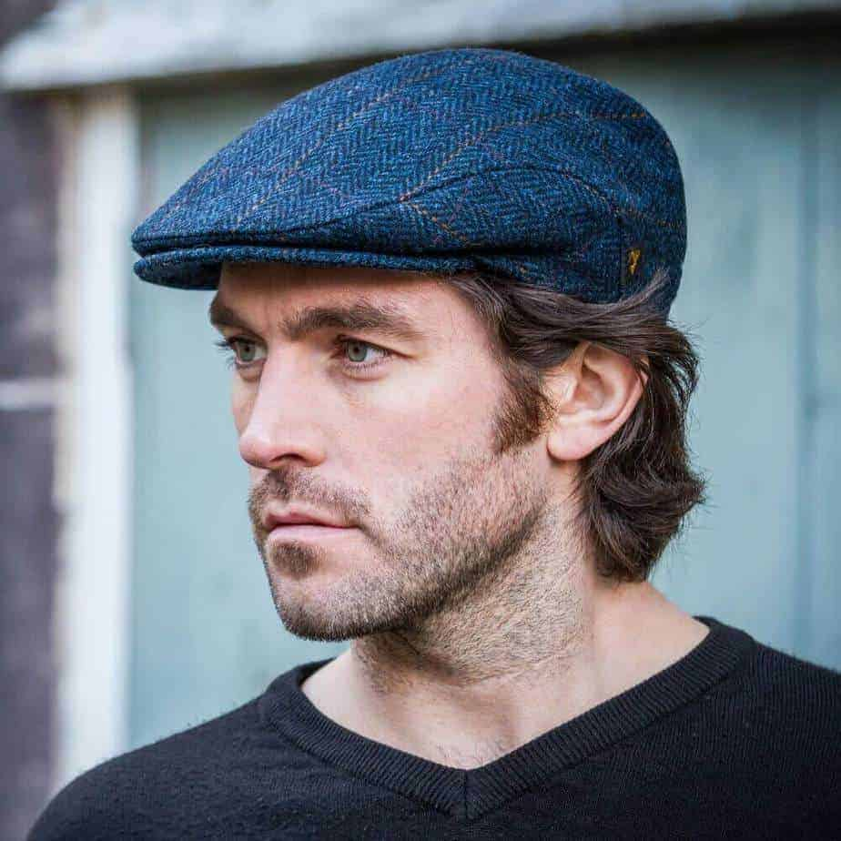 Irish Wool Hat for Men- Blue - Ships from US location 5d1f4519a09
