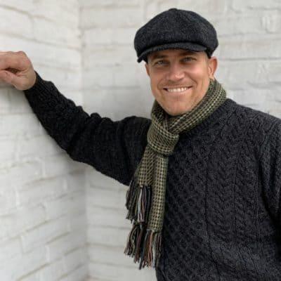 Irish Wool Sweater Gray