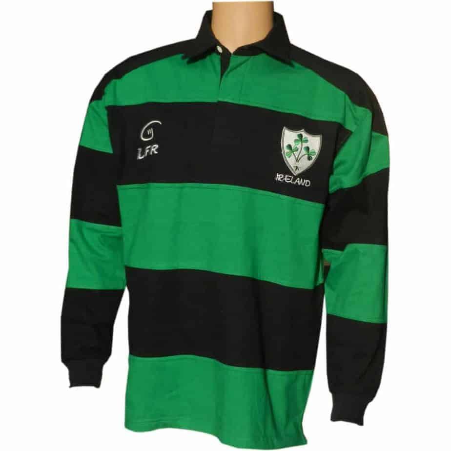 uk availability 766e0 9a51f Irish Rugby Shirt - Shamrock Crest