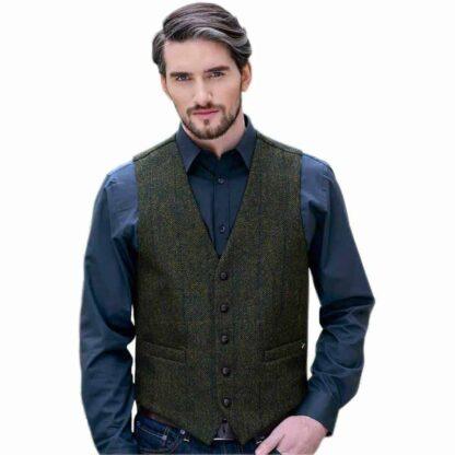 Irish Tweed Vest - Made in Ireland