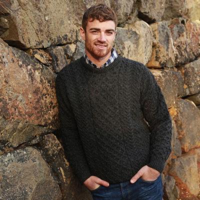 Irish Aran Wool Sweater