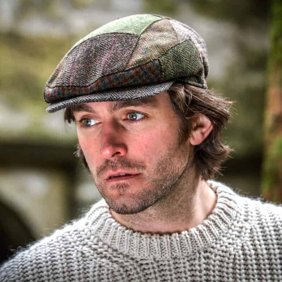 Irish Flat Cap Traditional Irish Tweed Cap Made In