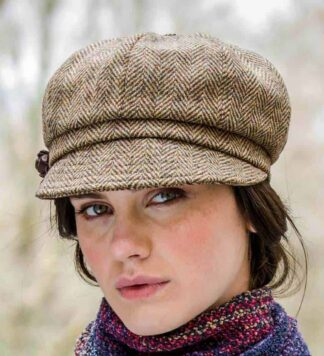 Ladies Newsboy Cap brown