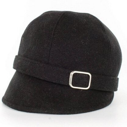 Ladies Black Flapper Hat
