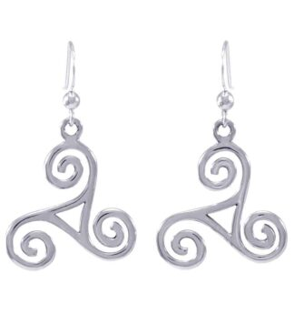 Celtic Spiral Design Silver Earrings