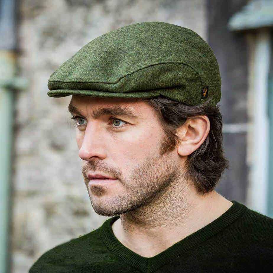 neueste Mode-Design neuer Stil & Luxus Tweed Flat Cap - Green