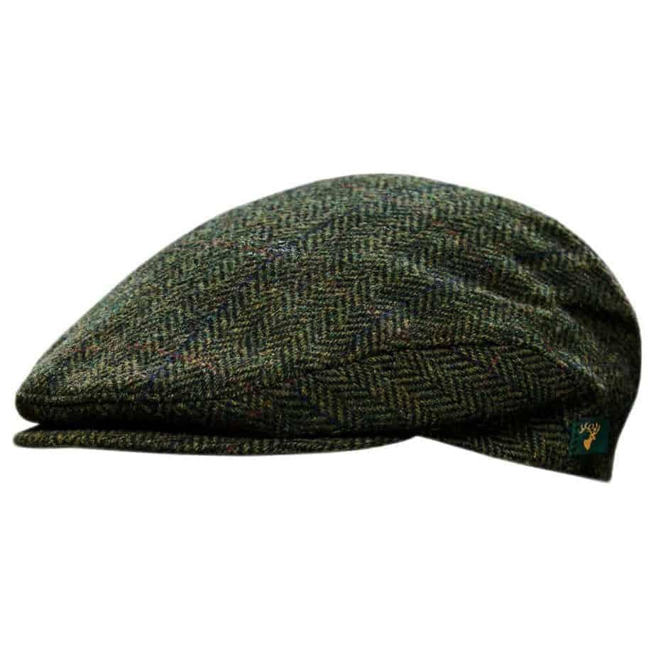 5cf2abf07f2f3 Donegal Tweed Cap - Green - Made from 100% Irish Wool