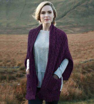 Womens Wool Wrap Purple