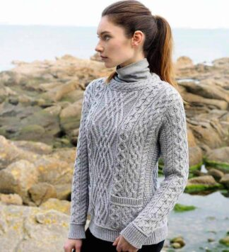 Ladies Wool Sweater - Made in Ireland