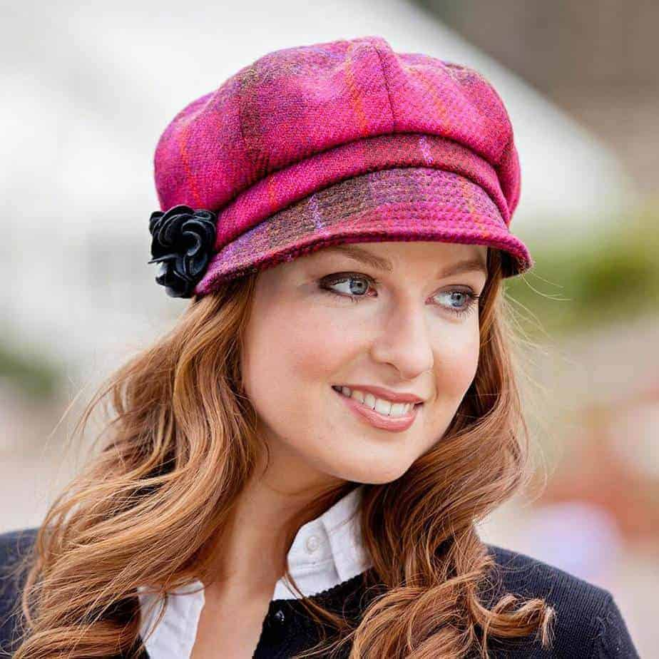 Red Plaid Ladies Newsboy Cap - Celtic Clothing Company faaf37aeeea