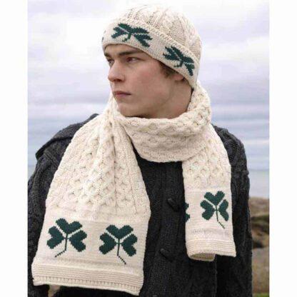 Irish Wool Shamrock Hat and Scarf