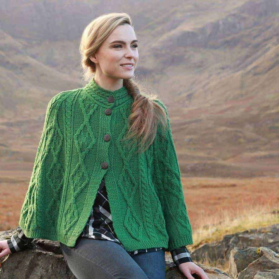 Traditional Irish Wool Cape Made In Ireland 100 Irish Wool