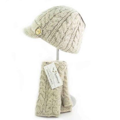 Wool Beanie & Hand Warmers Set