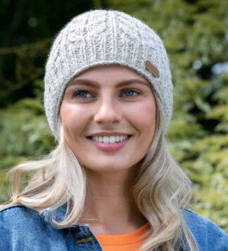 Irish Wool Knit Aran Cap