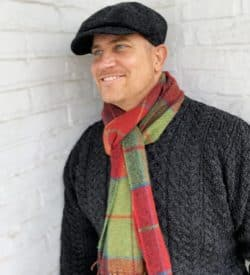 Foxford Plaid Scarf for Men