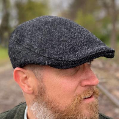 Gray Ivy Newsboy Cap.