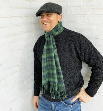 Irish Wool Scarf for Men