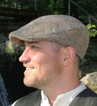 Irish Scally Cap, Tweed Flat Cap,