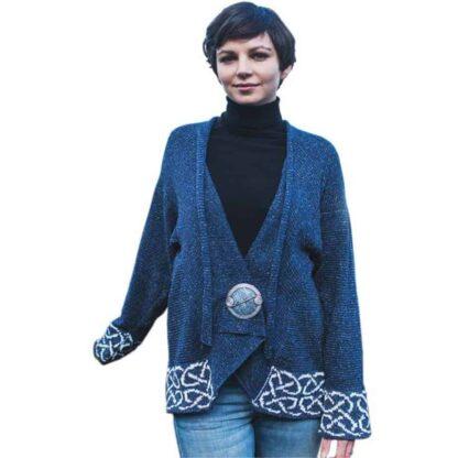 Ladies Celtic Wrap - Linen and Silk
