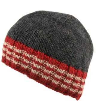 Gray Beanie Hat - Irish Wool.