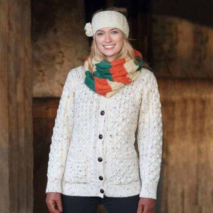 Women's Wool Aran Sweater
