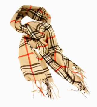 Plaid Scarf - Tan