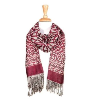 Celtic Design Scarf - Strawberry