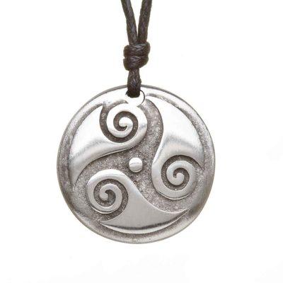 Celtic Spiral Pewter Pendant
