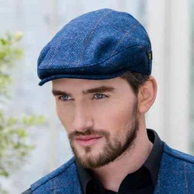 Blue Irish Tweed Cap for Men