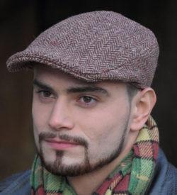 Brown Irish Tweed Cap for Men