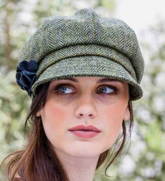 Womens Green Newsboy Hat