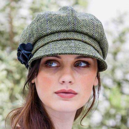Womens Green Newsboy Hat