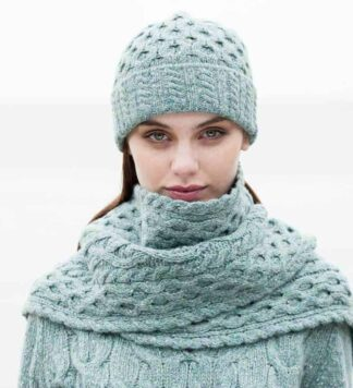 Ladies Wool Scarf and Hat Set