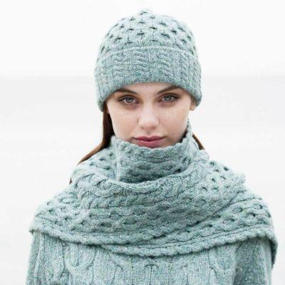 Ladies Wool Scarf and Hat Set
