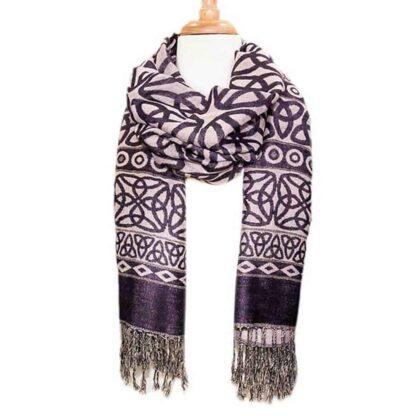 Womens Purple Lavender Scarf