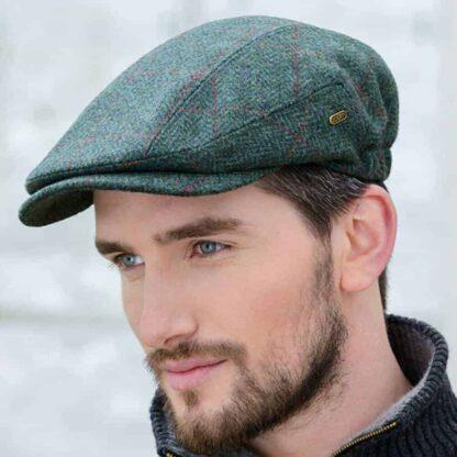 Green Irish Tweed Flat Cap