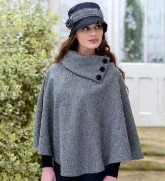 Ladies Tweed Poncho