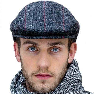 Gray Tweed Flat Cap