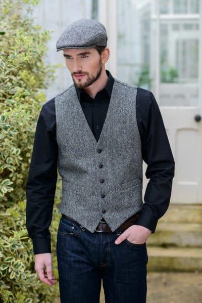 Irish Tweed Vest with matching cap