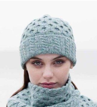 c13bff0b994 Women s Irish Aran Wool Knit Hat – Ocean Mist