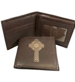 Celtic Cross Leather Wallet