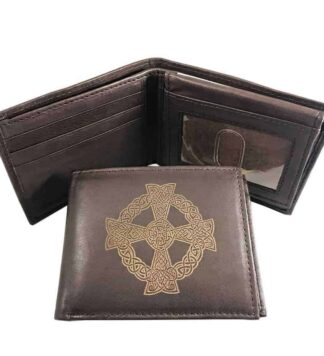 Celtic Sun Cross Leather Wallet
