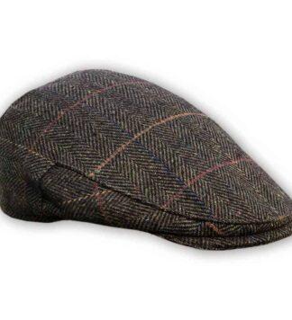 Tweed Cap Dark Brown