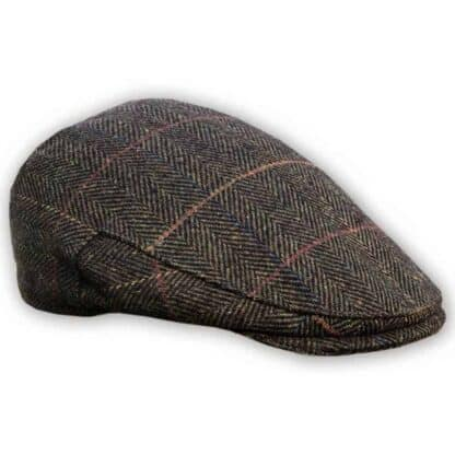 Tweed Cap Dark Brown