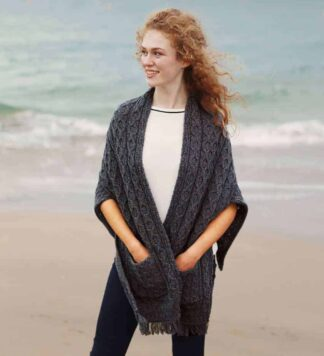 Wool shawl wrap for women.