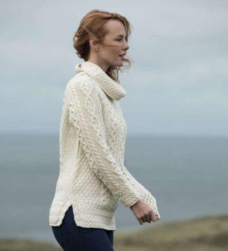 Irish wool sweater for women.