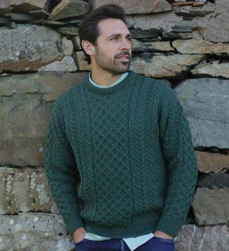 Green Irish Wool Sweater