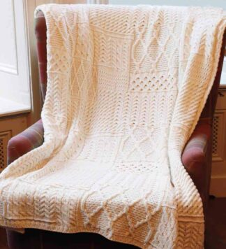 Irish Wool Blanket Throw.