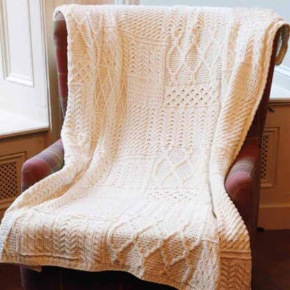 Irish Wool Blanket Throw.